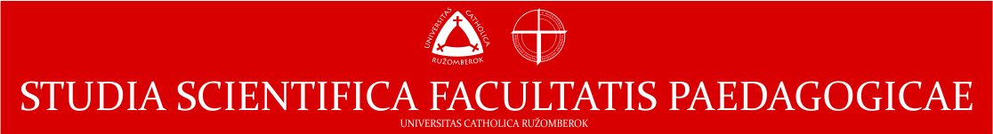 STUDIA SCIENTIFICA FACULTATIS PAEDAGOGICAE